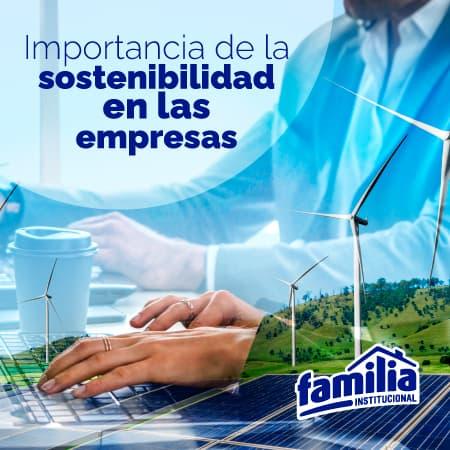 La sostenibilidad en las empresas - Familia Institucional